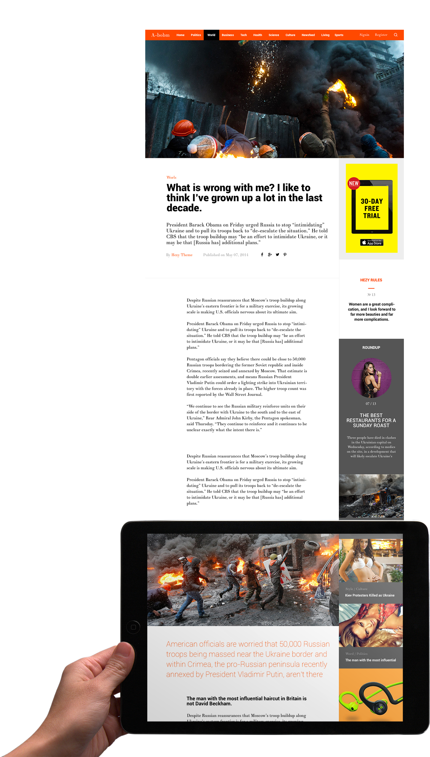A-Bomb | News & Blog & Magazine Template